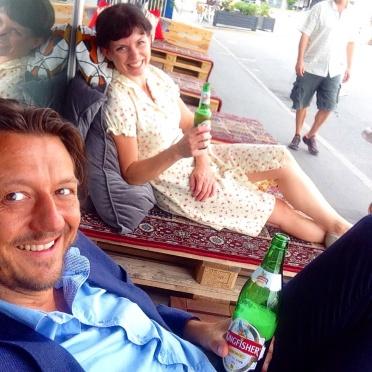Øl på pallen i Køben.