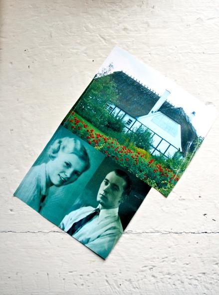 Bestemor og bestefar på Fyn. Og huset jeg tilbragte somrene i ved Storebælt.